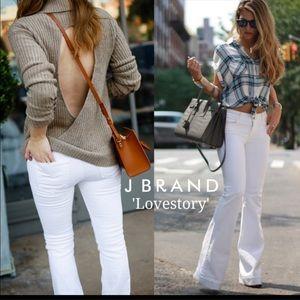J Brand White Love Story Jeans